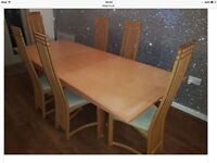 Beech dinning room table for sale sorry chairs are not included