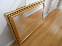 Gold and Black Large Mirror