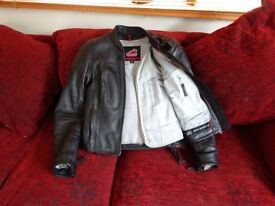 ORIGINAL HEIN GERICKE LEATHER BIKE JACKET- SIZE 36- VERY VERY GOOD CONDITION