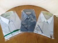 3 Brand New & Sealed Mens Long Sleeved Shirts 17.5 inch collar (45cm)