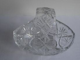 Lead Crystal Flower Basket