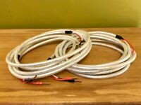 Chord Clearway Company Speaker Cables, 2x4m, terminated with Chord Company Banana Plugs.