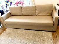 3 Seater Sofa Bed in Beige
