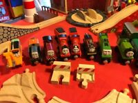 Fantastic Christmas presents. Huge wooden, magnetic Thomas the Tank engine and friends collection.