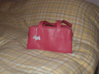 Radley ladies pink handbag with scottie dog