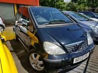 Mercedes A140 1.4 petrol AUTOMATIC 90K 12mot Icars L7 0LD