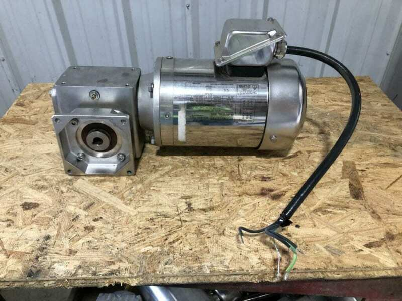 Sterling MOD-RA131 1HP Washdown Stainless Right Angle Gear Drive/Speed Reduce...