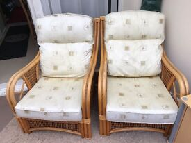 2 x Wicker Conservatory Chairs for Sale