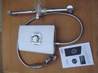 White 9.5kW Triton Aspirante Electric Shower
