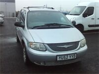 2002 CHRYSLER GRAND VOYAGER - FSH - 7 SEATER- FREE DELIVERY - WARRANTY AVAILABLE