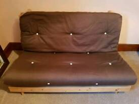 Double Wooden futon bed / sofa bed / guest / spare