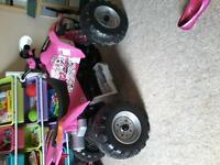 Girls Pink/Black 450 Polaris Quad.