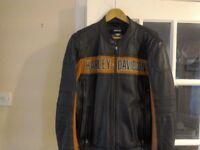 Medium size Harley Davidson leather bike jacket,