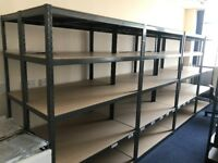 Grey Metal Heavy Duty Racking