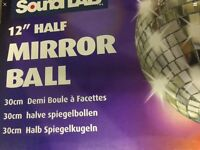 Half mirror ball brand new boxed