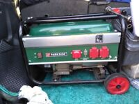 Parkside generator *as new condition* never used £150 ono