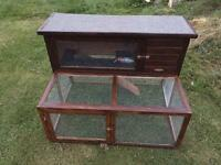 Rabbit hutch with run maybe used for chicks too