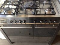 Stainless steel C.D.A range gas cooker 90cm....mint free delivery