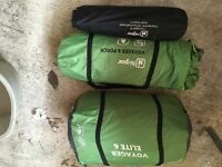 Voyager elite 6 tent with porch and footprint