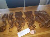 Lullabellz 5 piece Super thick blow dry wave clip in hair