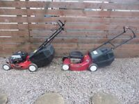 SELF PROPELLED MOUNTFIELD AND SOVERIGN PETROL LAWN MOWERS