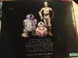 Star Wars artfx R2-D2 & C-3PO & BB8 statue