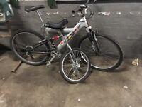 Mountain bike and unicycle