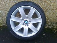 ALLOYS X 5 OF A COMPLETE SET OF BMW 3 SERIES/ 1 SERIES FULLY POWDERCOATED INA STUNNING SILVERSPARKLE