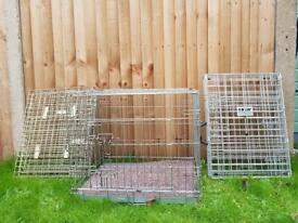 Metal dog crates
