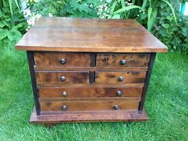 Small Laura Ashley solid walnut chest of drawers