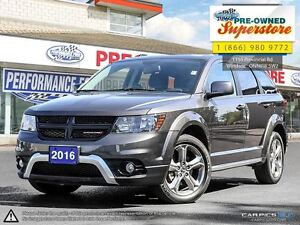 2016 Dodge Journey Crossroad >>> Leather, Nav, Chrome Rims