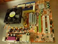 Leadtek (Foxconn) 6150M2MA AM2+ motherboard with AMD Athlon 64 X2 CPU and Cooler