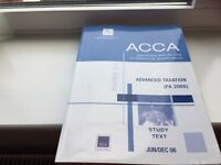 FTC and BPP ACCA ADVANCED TAXATION 3.2/P6 Texts and Kits