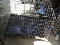 dog cage length 104 cms width 65 cms and height 28 cms with some rust