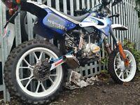 125cc reg as 50cc. ROAD LEGAL. dirt bike. MX. crosser. supermoto. not pitbike yamaha ktm suzuki Rm