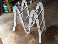 3.4m aluminium 4 section folding ladder