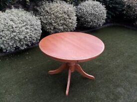 Pine dining table 1m diameter 75cm high