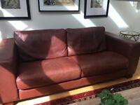 Three seater De Coro italian aniline real leather settee