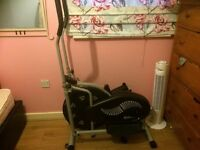 Electric running machine and cross trainer type machine