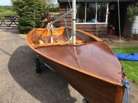 Classic sailing dinghy