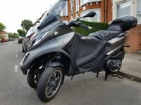 Piaggio MP3 500 Sport, Low mileage, over £800 of extras included, can be ridden on car license