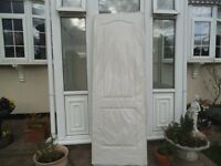 internal door white with pattern still in cellophane 6ft 8in by2ft3in