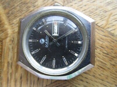 Vintage St. Steel ROAMER Automatic Watch. Cal. AS 2066. For parts.