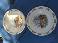 Royal Doulton Bunnykins Bowl And Plate Collectable