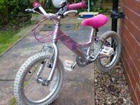 "Dawes Aluminium Frame Girls Bike 16"" Wheels"