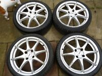 "FORD 17"" 4 STUD ALLOY WHEELS WITH GOOD TYRES"