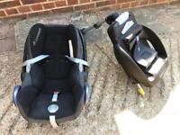 Maxi-cost base & car seat