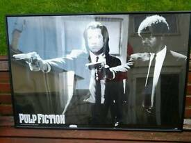 Pulp fiction Samuel Jackson and John trevolter picture with frame