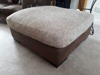 Beautiful Large Puffe fabric and faux leather