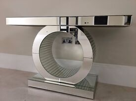BRAND NEW VENETIAN MIRRORED CONSOLE TABLE/HALL TABLE H80cm W120cm D40cm